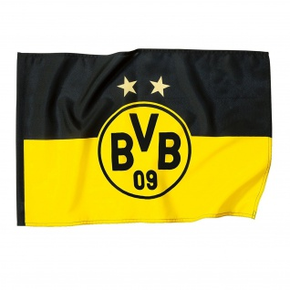 "BVB Borussia Dortmund Hissfahne / Fahne / Flagge "" 2 Sterne "" 150x 100 cm"