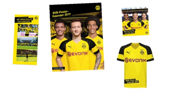 BVB Borussia Dortmund Kalender ( Poster / Trikot / 3 Monats Kalender )