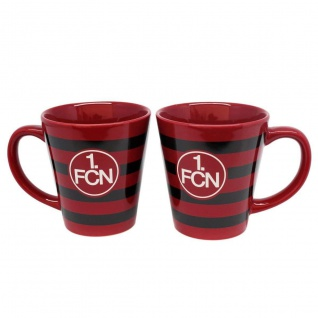 1. FC Nürnberg Kaffeetassee / Kaffeebecher / Tasse ** Streifen ** 07663