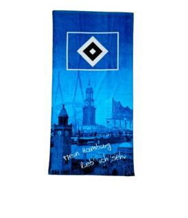 HSV Hamburger Sportverein Strandtuch / Duschtuch * Mein Hamburg lieb ich sehr *