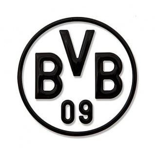 BVB Borussia Dortmund 3D Aufkleber Logo (Autoaufkleber / Sticker ) schwarz