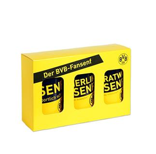 BVB Borussia Dortmund Fansenf Senf pikant / Eierlikör / Bratwurst 3 Sorten