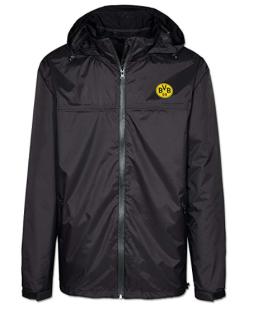 BVB Borussia Dortmund Jacke / Regenjacke ** schwarz mit Logo ** 17214201