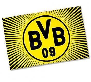 "BVB Borussia Dortmund Hissfahne / Fahne / Flagge "" Sonne "" 150x100 (2 Ösen)"