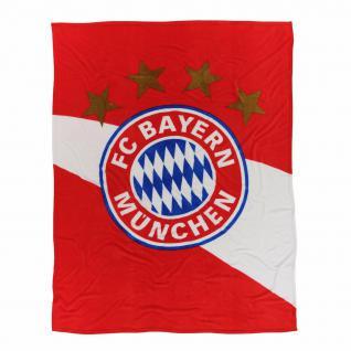 FC Bayern München *** Kuschelfleecedecke / Fleecedecke *** rot/weiß 21715