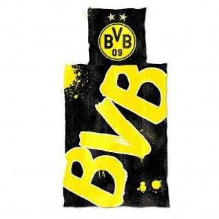 BVB Borussia Dortmund Bettwäsche ** Glow in the Dark **
