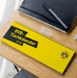 BVB Borussia Dortmund Kalender / Tischkalender / Tischquerkalender 2018