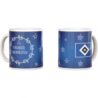 HSV Hamburger SV Tasse / Kaffeebecher / Weihnachtstasse ** Vergnögte Wiehnachten