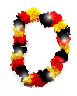 Deutschland WM Fanartikel Kette / Halskette ** Blüttenkette mit LED Licht **