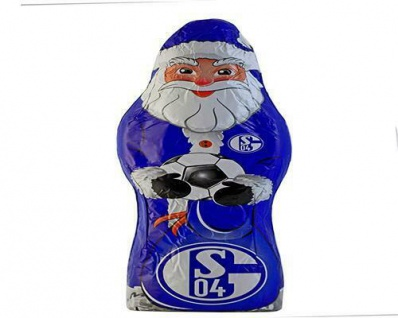 FC Schalke 04 Schokoladen Nikolaus / Weihnachtsmann