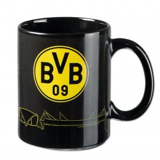 "BVB Borussia Dortmund Zaubertasse / Tasse "" Skyline """