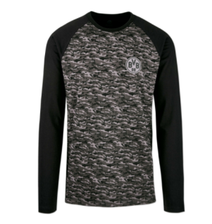 BVB Borussia Dortmund Pullover / Shirt / Langarmshirt ** Camouflage ** 18211001