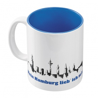 HSV Hamburger Sportverein Tasse / Kaffeebecher *** Skyline ***