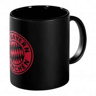 FC Bayern München Tasse / Becher / Kaffeetasse *** Magic Logo Black ***