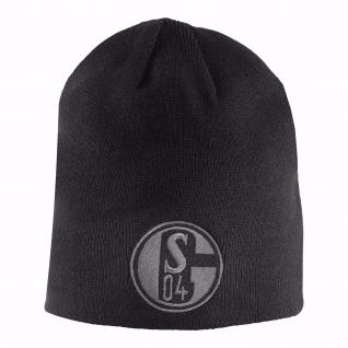 FC Schalke 04 Wendemütze / Mütze Kids schwarz / grau