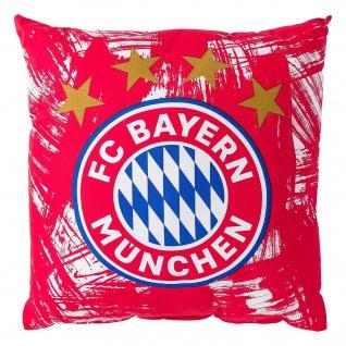 FC Bayern München Dekokissen / Sofakissen / Kissen ** rot / weiß Malerstreifen *