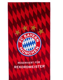 FC Bayern München Duschtuch / Strandtuch ** Rekordmeister Raute ** 22646