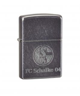 "Fc Schalke 04 "" Zippo "" Grey Dusk / Feuerzeug"