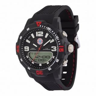 FC Bayern München Digitaluhr Armbanduhr Uhr Teens inc. Geschenkbox ( schwarz)