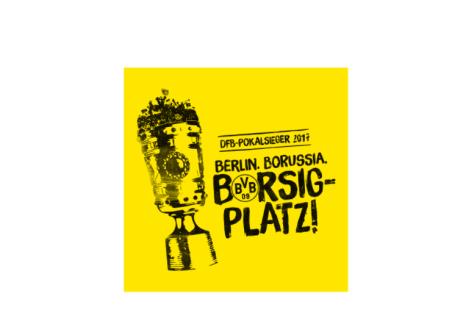 BVB Borussia Dortmund Aufkleber DFB Pokalsieger 2017 Berlin Borussia Borsigplatz