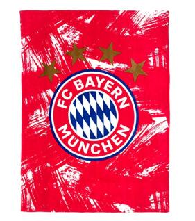 FC Bayern München Kuscheldecke / Fleecedecke *** rot / weiß *** 22866