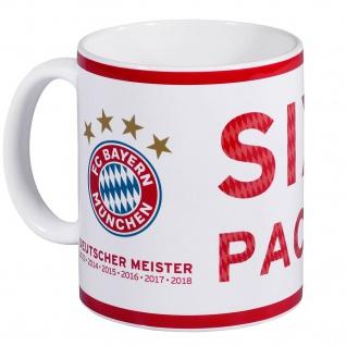 FC Bayern München Kaffeebecher / Tasse ** Sixpack ** Deutscher Meister 2018