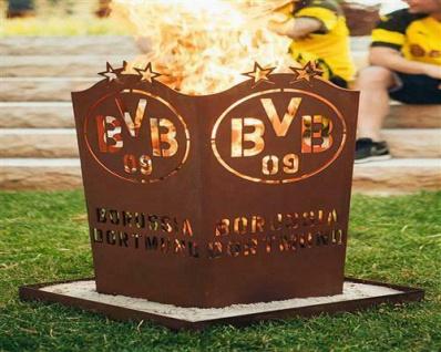 Borussia Dortmund BVB Feuerschale / Feuertonne / Feuerkorb ** Rost ** BVB-001