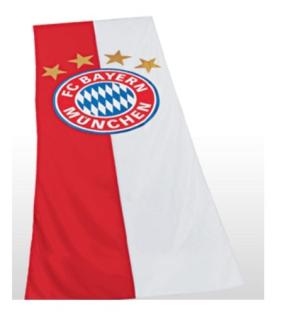 FC Bayern München Fahne / Hissfahne ** Logo ** Hochformat 150 x 400 cm 12816