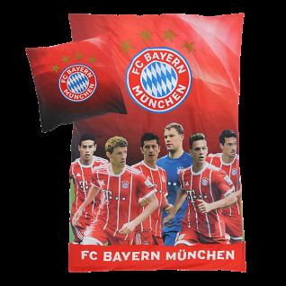 """FC Bayern München Bettwäsche """" Spieler """" 135x200 cm Wendebettwäsche (Player)"""