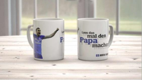 """HSV-Hamburger SV Tasse / Kaffeebecher """" Lass das mal den Papa machen"""