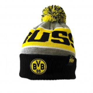 BVB Borussia Dortmund Mütze / Bommelmütze ** grau ** 18272100