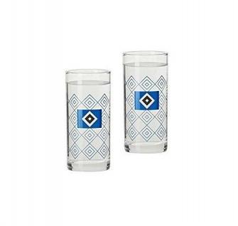 HSV Hamburger SV Schapsglas 2er-Set ** Rautenmuster ** 28980 - Vorschau