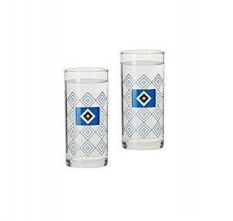HSV Hamburger SV Schapsglas 2er-Set ** Rautenmuster ** 28980