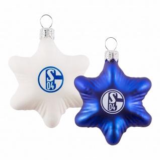 FC Schalke 04 *** Glas-Stern / Weihnachtsstern *** 2er Set Christbaumschmuck
