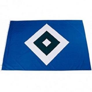"""HSV Hissfahne/ Hissflagge """" Raute"""" 150 cm *100 cm (Fahne) Hamburger SV (2 Ösen)"""