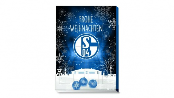 FC Schalke 04 Kalender / Adventskalender ** Schokokalender inkl. 3 Aufkleber **