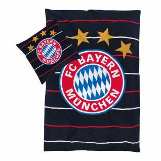 FC Bayern München Bettwäsche **** Stripes / Polo **** navy 20430