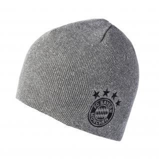 FC Bayern München *** Wende Beanie *** grau schwarz
