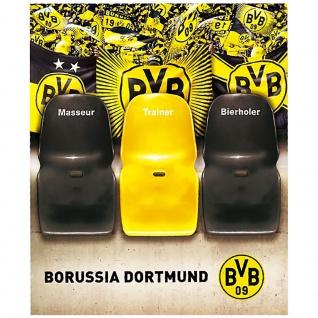 """BVB Borussia Dortmund """" Sofaüberwurf """" Masseur , Trainer , Bierholer"""