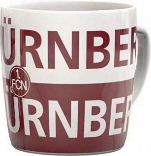 1. FC Nürnberg Kaffeebecher / Kaffeetasse / Tasse ** Schriftzug mit Logo **