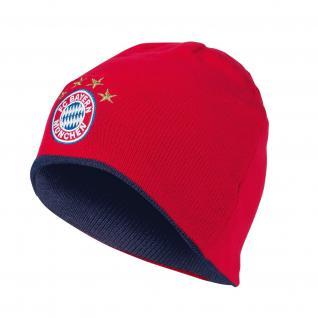 FC Bayern München Wende-Beanie *** Logo *** rot-navy 21632