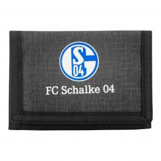 FC Schalke 04 Geldbeutel / Gelbörse ** grau meliert ** 27718
