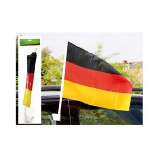 Deutschland WM Fanartikel Fahne / Fensterfahne / Autofahne ** Fahne 2er Set **