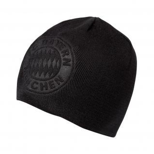 FC Bayern München Wende Beanie *** Big Logo *** grau-schwarz 20392