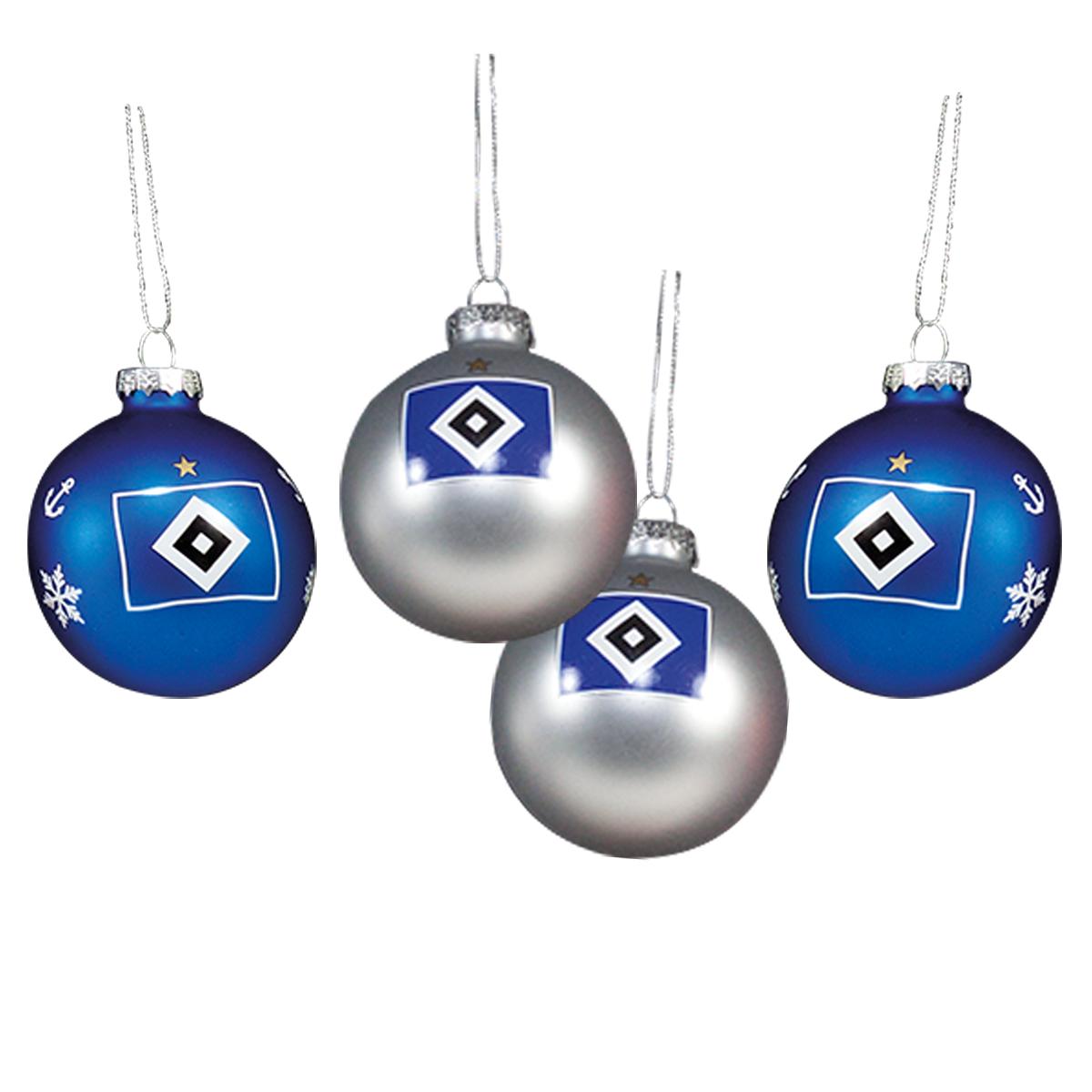 HSV Hamburger Sportverein *** Weihnachtskugeln / Christbaumkugeln ...