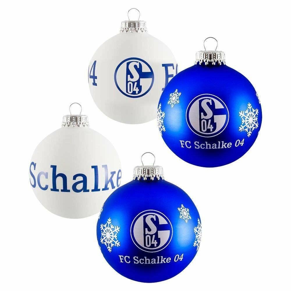 Schalke Tannenbaum.Fc Schalke 04 Weihnachtskugeln Christbaumkugeln 4er Set 11930