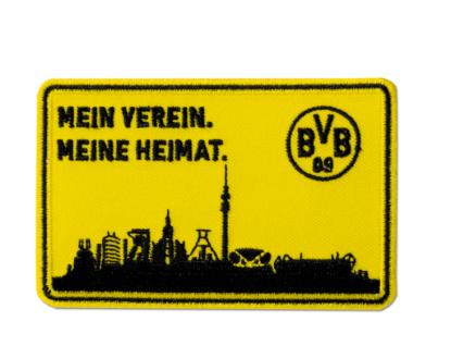 """BVB Borussia Dortmund Aufnäher """" MEIN VEREIN. MEINE HEIMAT. """" Stickabzeichen"""