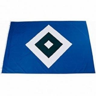 """HSV Hissfahne/ Hissflagge """" Raute"""" 120 cm *80 cm (Fahne) Hamburger SV (2 Ösen)"""
