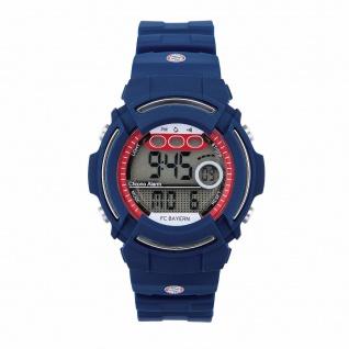 FC Bayern München Digitaluhr Armbanduhr Uhr Kids inc. Geschenkbox ( Blau )