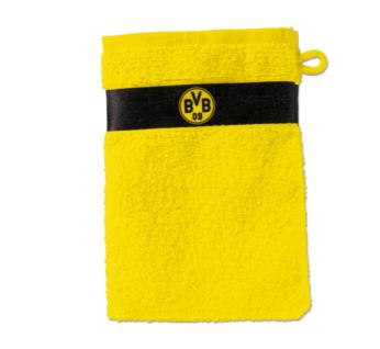 BVB Borussia Dortmund *** Waschhandschuh / Waschlappen *** gelb 15801000